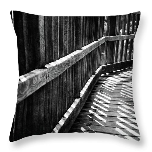 Black Throw Pillow featuring the photograph Bridge To Everywhere by Phill Petrovic