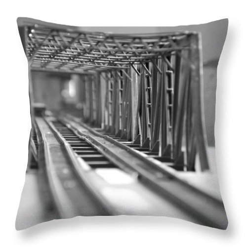 Models Throw Pillow featuring the photograph Bridge To Jerry Town by Margaret Fortunato