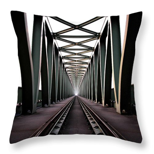 Bridge Throw Pillow featuring the photograph Bridge by Zoltan Toth