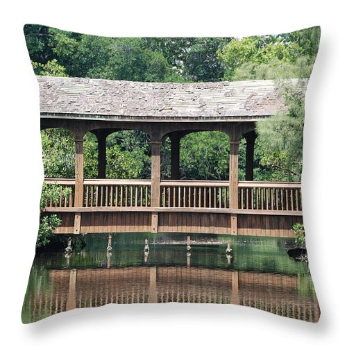 Architecture Throw Pillow featuring the photograph Bridges Of Miami Dade County by Rob Hans