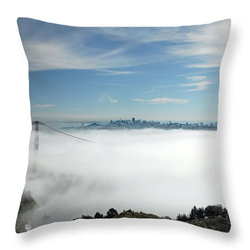 San Francisco Throw Pillow featuring the photograph Brigadoon by Donna Blackhall