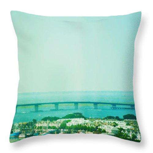 Brigantine Throw Pillow featuring the photograph Brigantine Bridge - New Jersey by Bill Cannon