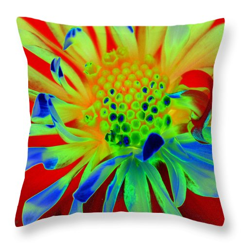 Diane Berry Throw Pillow featuring the painting Bright Flower by Diane E Berry