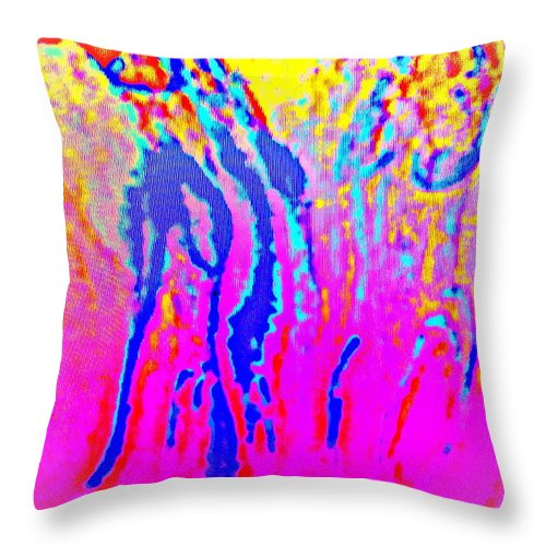 Sun Throw Pillow featuring the photograph Bright Life Is Here Again by Hilde Widerberg