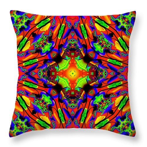 Colorful Throw Pillow featuring the digital art Bright Side by Robert Orinski