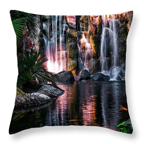 Water Throw Pillow featuring the photograph Bright Waterfalls by Christopher Holmes