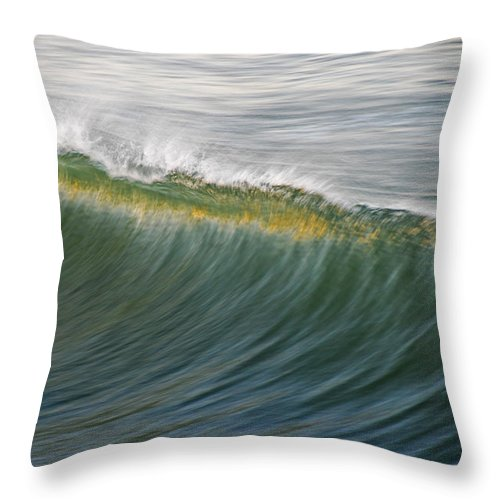 Wave Throw Pillow featuring the photograph Bright Wave by Kelly Wade
