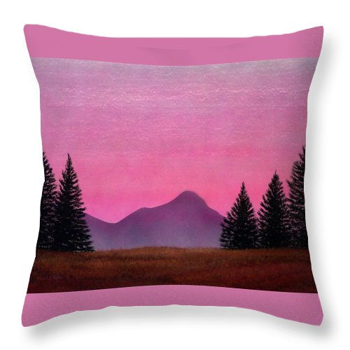 Landscape Throw Pillow featuring the painting Brightness by Frank Wilson