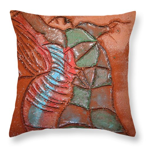 Jesus Throw Pillow featuring the ceramic art Brightspot - Tile by Gloria Ssali