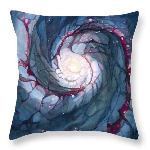 Brigid Throw Pillow featuring the painting Brigid The Goddess Of Fire Poetry And Healing by Do'an Prajna - Antony Galbraith