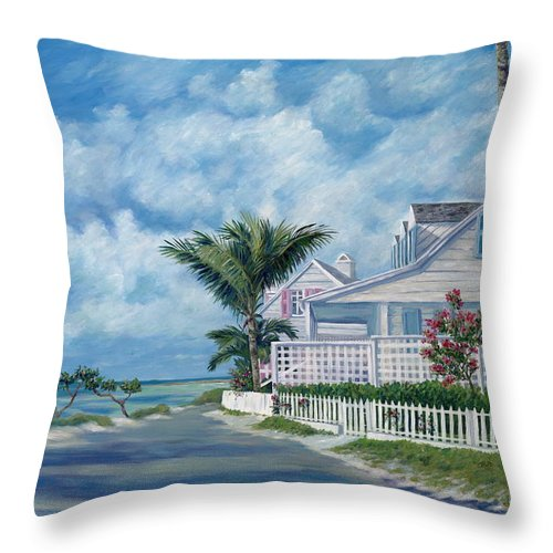 Harbor Island Throw Pillow featuring the painting Briland Breeze by Danielle Perry