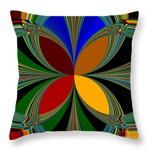 Brilliant Colors Throw Pillow featuring the digital art Brilliant Colors by Barbara Griffin