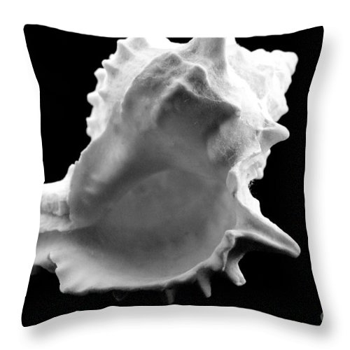 Mary Deal Throw Pillow featuring the photograph Brilliant Drupe In Black And White by Mary Deal