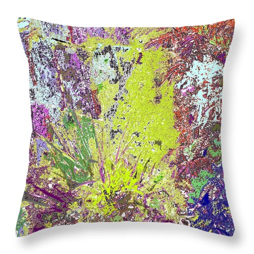 Abstract Throw Pillow featuring the photograph Brimstone Fantasy by Ian MacDonald