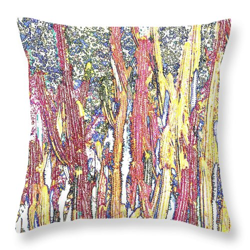 Forest Throw Pillow featuring the photograph Brimstone Forest by Ian MacDonald