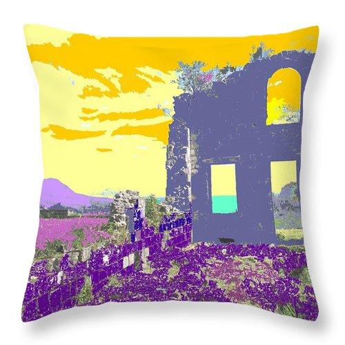 Brimstone Throw Pillow featuring the photograph Brimstone Sunset by Ian MacDonald