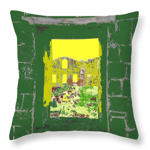 Brimstone Throw Pillow featuring the photograph Brimstone Window by Ian MacDonald