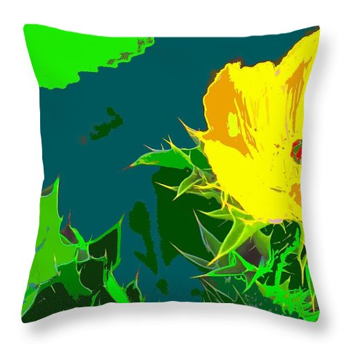 Throw Pillow featuring the photograph Brimstone Yellow by Ian MacDonald
