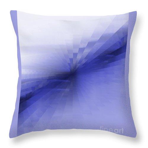 Blue Throw Pillow featuring the painting Bris Bleu by Vicki Lynn Sodora