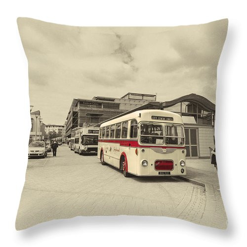 Bristol Throw Pillow featuring the photograph Bristol Greyhound by Rob Hawkins