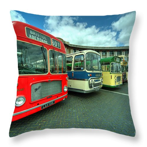 Bristol Throw Pillow featuring the photograph Bristol Line Up by Rob Hawkins