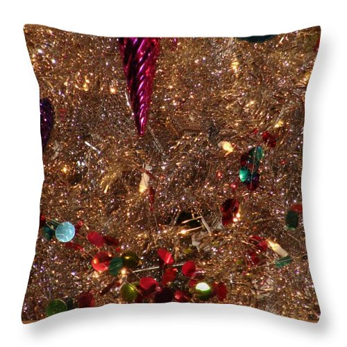 Christmas Decorations Throw Pillow featuring the photograph Brite Christmas by Bob Carey