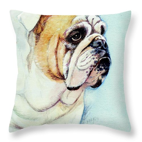 British Bulldog Throw Pillow For Sale By Morgan Fitzsimons 16 X 16