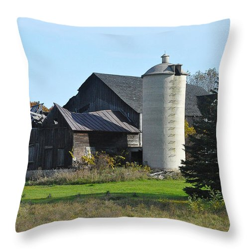 Barn Throw Pillow featuring the photograph Broke by Tim Nyberg