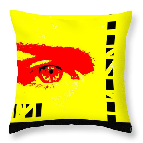 Eyes Throw Pillow featuring the photograph Broken by Amanda Barcon