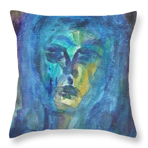 Abstract Throw Pillow featuring the painting Broken Heart--injured Soul by Judith Redman