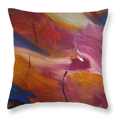 Abstract Art Throw Pillow featuring the painting Broken Heart by Kelly Turner