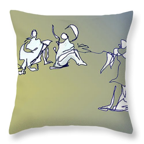 Dance Throw Pillow featuring the digital art Broken Hearted by Anthe Capitan-Valais
