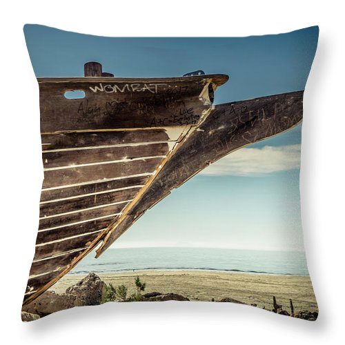Hull Throw Pillow featuring the digital art Broken Hull by Stevie Benintende