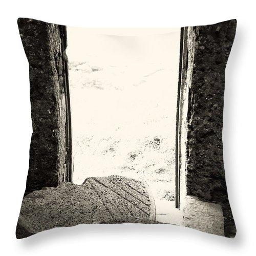 Azores Throw Pillow featuring the photograph Broken Millstone by Gaspar Avila