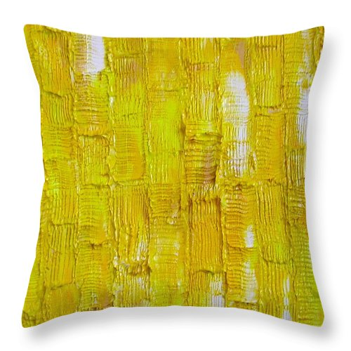 Art Throw Pillow featuring the painting Broken Yolk by Dawn Hough Sebaugh