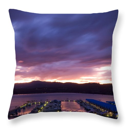 Stormy Throw Pillow featuring the photograph Brooding Skies by Idaho Scenic Images Linda Lantzy