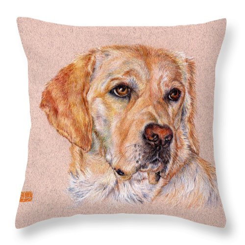 Brooke Throw Pillow featuring the drawing Brooke by Liz Lamb