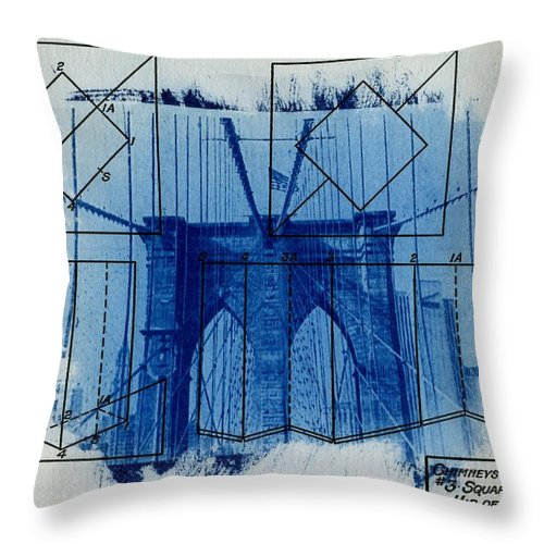 Brooklyn Bridge Throw Pillow featuring the photograph Brooklyn Bridge by Jane Linders