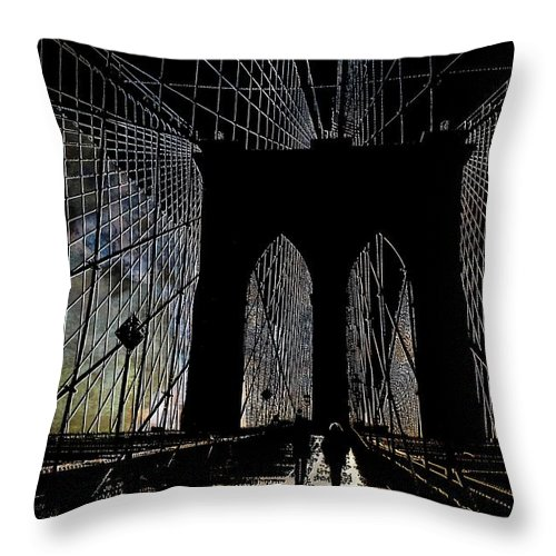 Brooklyn Throw Pillow featuring the photograph Brooklyn Gateway by Jeff Watts