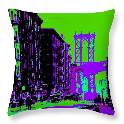 Truck Throw Pillow featuring the photograph Brooklyn Green by Lord Frederick Lyle Morris - Disabled Veteran
