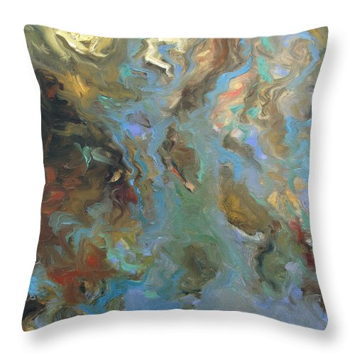 Water Throw Pillow featuring the painting Brown by Rick Nederlof