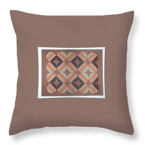 Brown Throw Pillow featuring the painting Brownstone by Gay Dallek