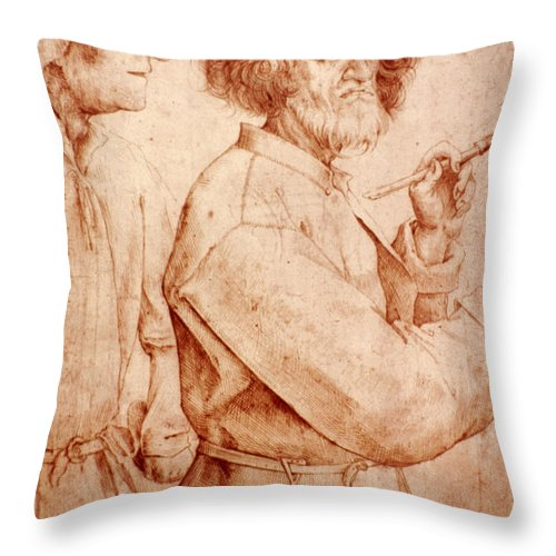 16th Century Throw Pillow featuring the photograph Bruegel: Painter, 1565 by Granger