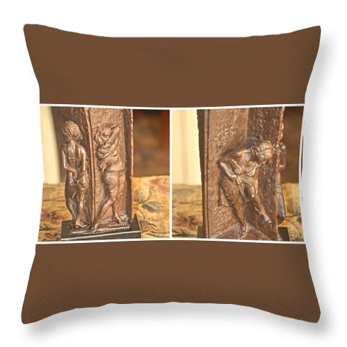 Sculpture Throw Pillow featuring the photograph Bruno Lucchesi Backstage by Jay Milo