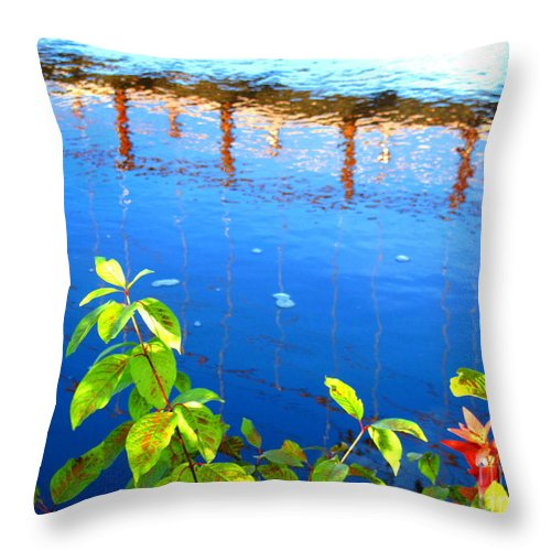 Water Throw Pillow featuring the photograph Brunswick Maine Walking Bridge by Sybil Staples