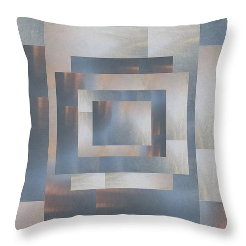 Abstract Throw Pillow featuring the digital art Brushed 23 by Tim Allen