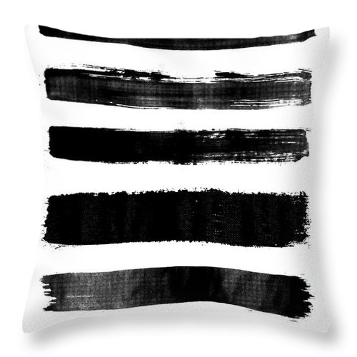 Throw Pillow featuring the digital art Brushstrokes by Rafael Farias
