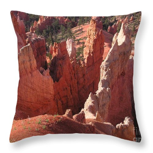 Bryce Throw Pillow featuring the photograph Bryce Canyon Look by Louise Magno