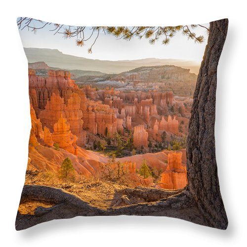 Bryce Canyon Sunrise National Park Utah Throw Pillow featuring the photograph Bryce Canyon National Park Sunrise 2 - Utah by Brian Harig