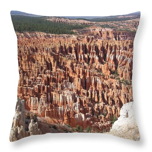 Bryce Throw Pillow featuring the photograph Bryce by Louise Magno